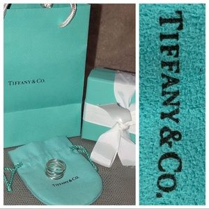 Tiffany & Co Sterling Five Wave Ring 7